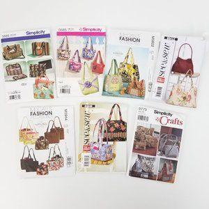 Lot 7 Purse Backpack Laptop Bag Sewing Patterns